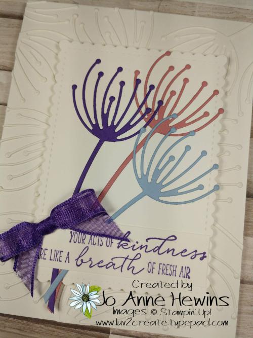CCMC #654 Dandy Wishes Card by Jo Anne Hewins