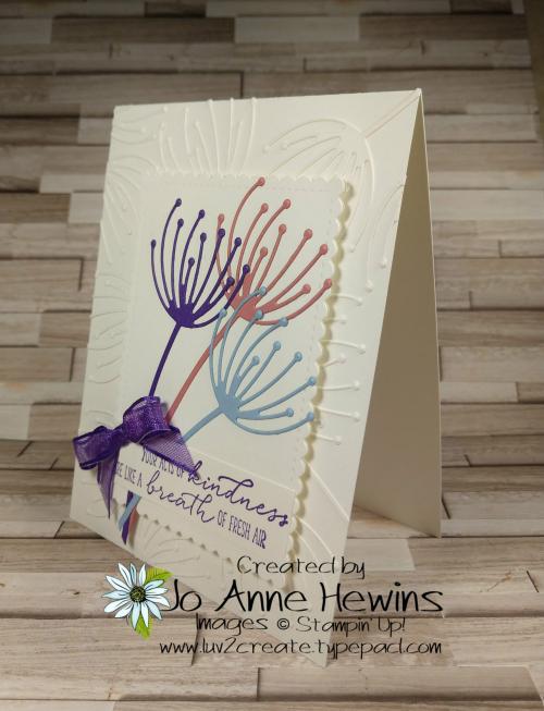 CCMC#654 Dandy Wishes Card by Jo Anne Hewins