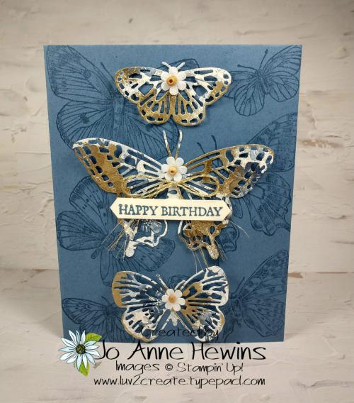Butterfly Boho Card by Jo Anne Hewins