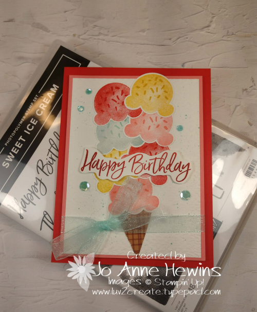 Color Fusers May Sweet Ice Cream Card by Jo Anne Hewins