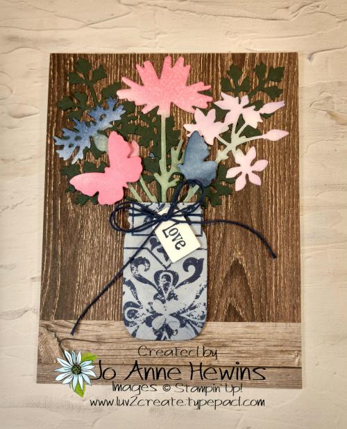 Quiet Meadow Jar Card by Jo Anne Hewins