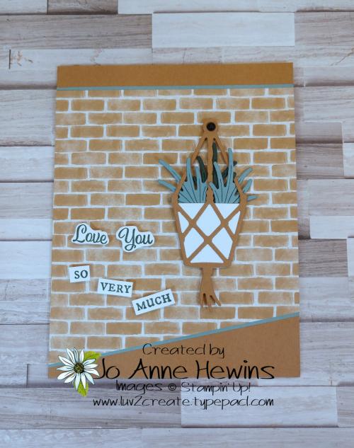 Facebook Live 5.26.2021 Plentiful Plants Hanging Basket by Jo Anne Hewins