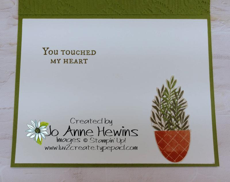 CCMC #668 Plentiful Plants Inside by Jo Anne Hewins