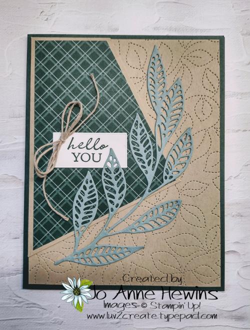 Easy 6 x 6 One Sheet Wonder Card 1 by Jo Anne Hewins