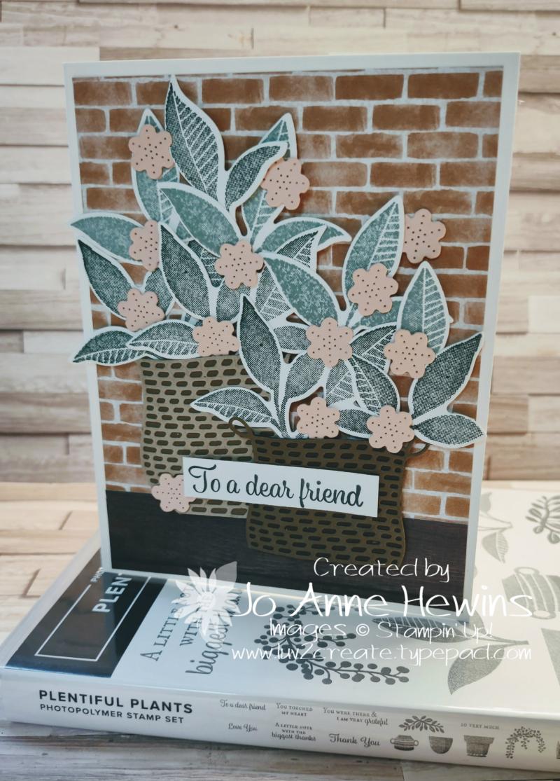 NC Demo Blog Hop for June Plentiful Plants Card Project by Jo Anne Hewins