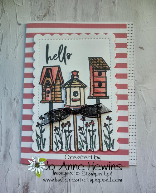 12 x 12 One Sheet Wonder Facebook Garden Birdhouses by Jo Anne Hewins