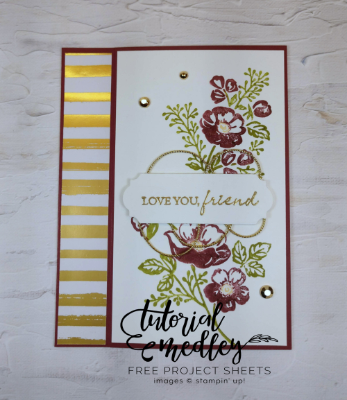 Tutorial Medley Shaded Summer Inside of Card by Jo Anne Hewins