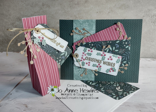 OSAT for July Christmas in July Card  Envelope  and 3D Holder by Jo Anne Hewins