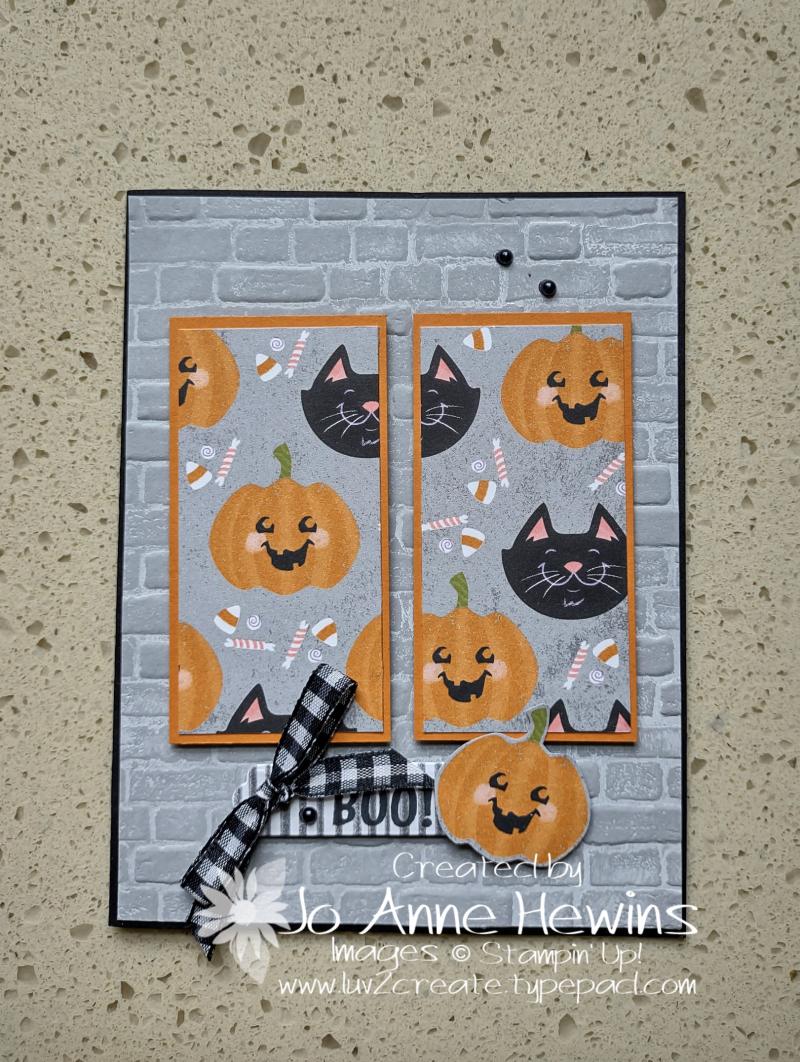 One Sheet Wonder Cute Halloween 6 x 6 Card 2 by Jo Anne Hewins