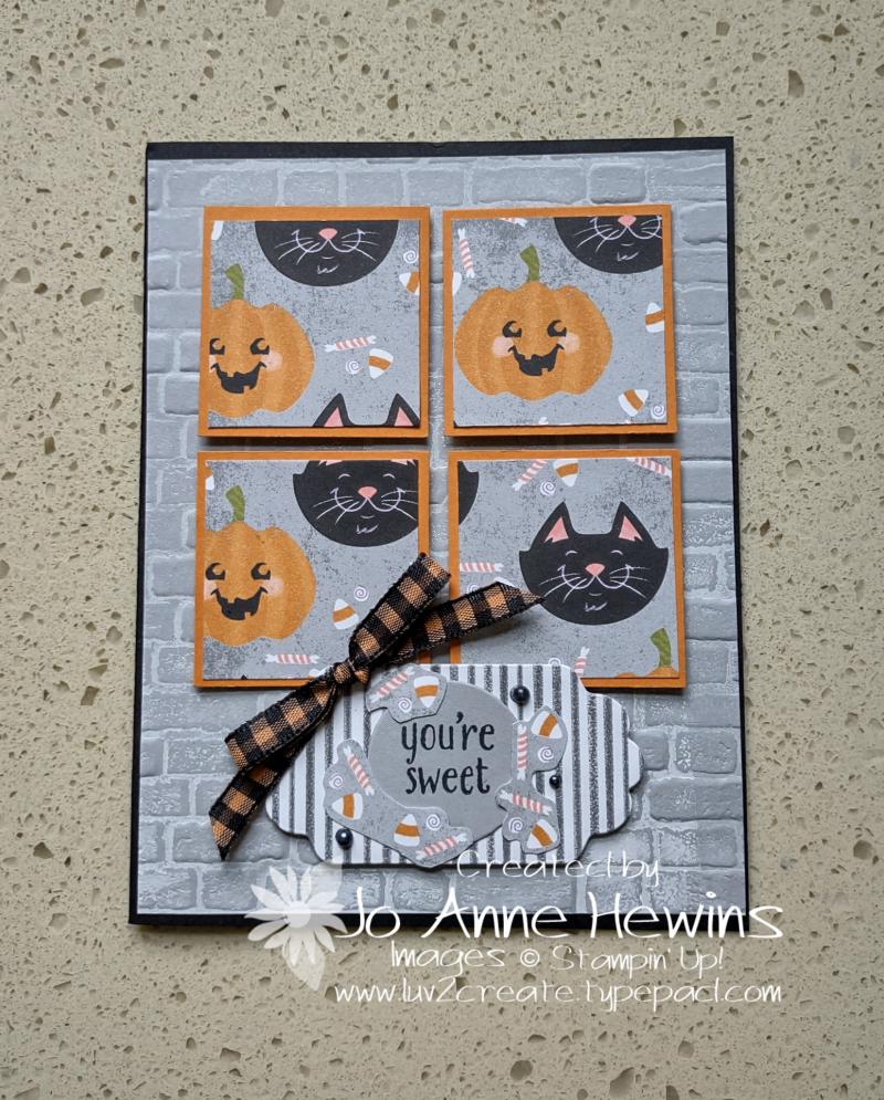One sheet wonder Cute Halloween 6 x 6 Card 4 by Jo Anne Hewins