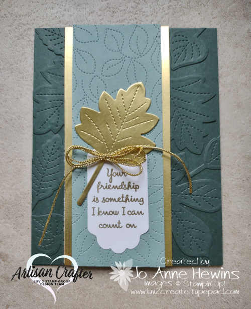 OSAT for August Love of Leaves Card by Jo Anne Hewins