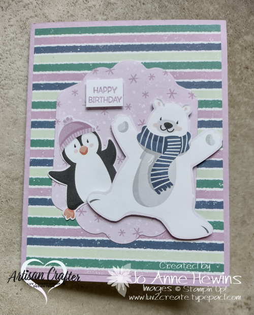 Penguin Place Fun Fold for Facebook Live 8.11.2021 by Jo Anne Hewins