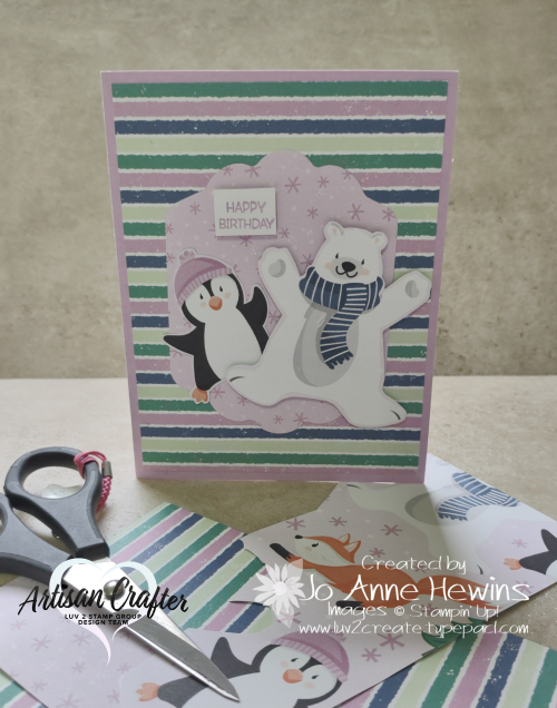 Penguin Place Fun Fold for Facebook Live 8.11.2021 Project by Jo Anne Hewins