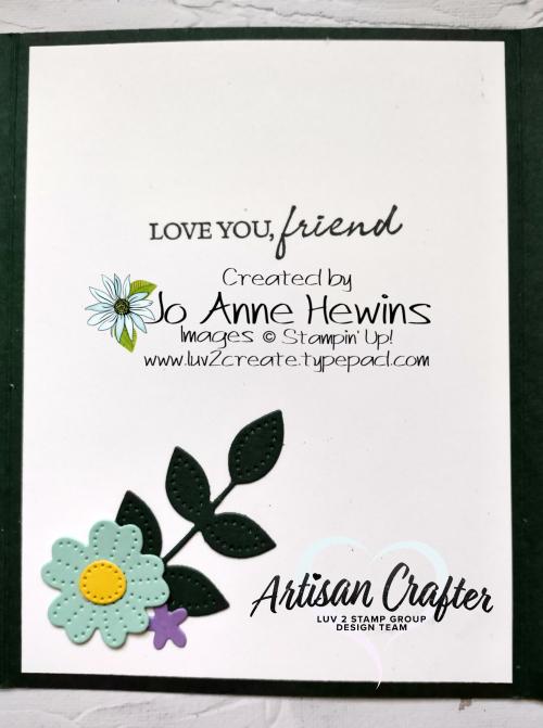 Pierced Blooms Interlocking Fold Inside by Jo Anne Hewins
