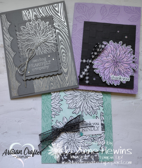 Delicate Dahlias for Facebook Live 8.25.2021 Trio by Jo Anne Hewins