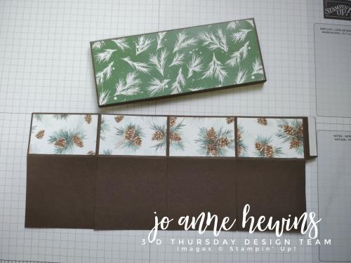 3D Thursday Chocolate Holder Designer Series Paper by Jo Anne Hewins