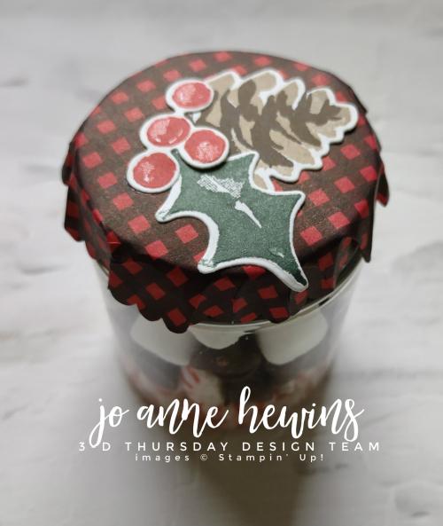 3D Thursday Chocolate Jam Jar Top by Jo Anne Hewins