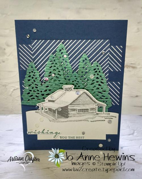 CCMC #681 Peaceful Cabin Card by Jo Anne Hewins