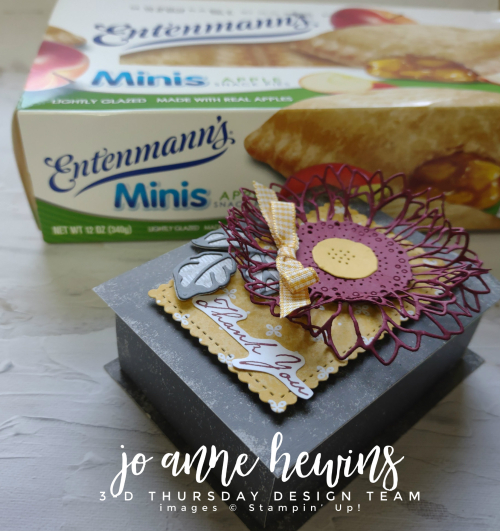 3D Thursday Tombstone Box with Apple Pies by Jo Anne Hewins