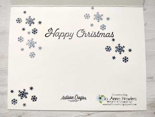 CCMC #683 Welcoming Woods  Happy Holly-Days  Jo Anne Hewins  Inside of Card