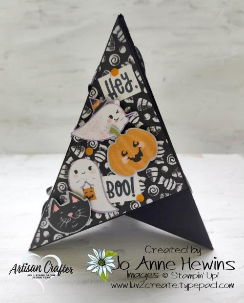 Teepee Card Side 2 Cute Halloween  Cutest Halloween  Halloween Punch by Jo Anne Hewins