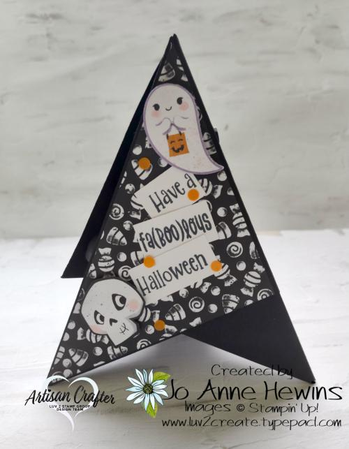 Teepee Card Side 3 Cute Halloween  Cutest Halloween  Halloween Punch by Jo Anne Hewins