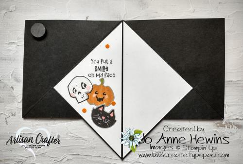 Teepee Card Inside Cute Halloween DSP  Cutest Halloween  halloween punch by Jo Anne Hewins