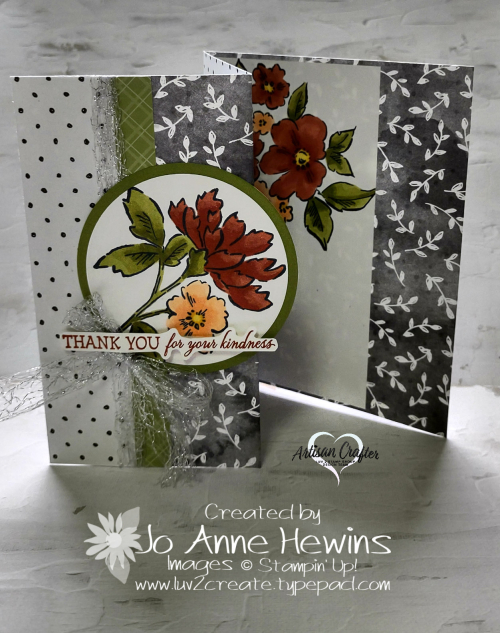 Beautifully Penned with Hand-Penned Petals Partially Open Accordian Fold by Jo Anne Hewins