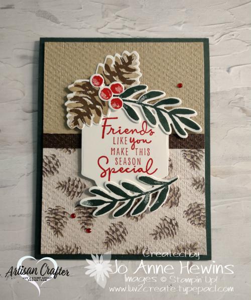 Christmas Season  Tasteful Textile  Seasonal labels dies  Jo Anne Hewins  Luv 2 Create