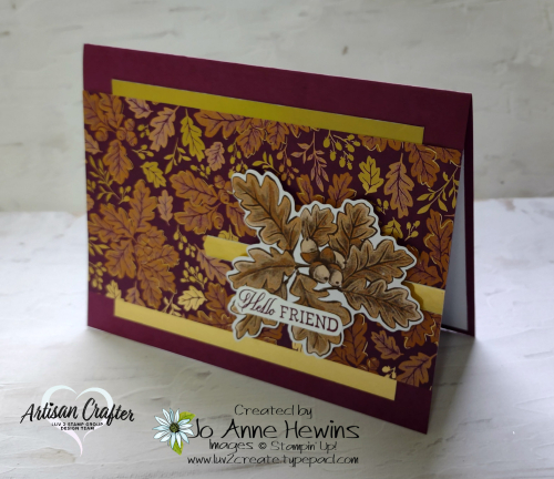 CCMC #687 Blackberry Beauty DSP  Blackberry Beauty Ephemera Pack  Wink of Stella  Gold Foil  Card Using a Sketch  Banners Pick a Punch  Welcoming Woods  Jo Anne Hewins  Luv 2 Create