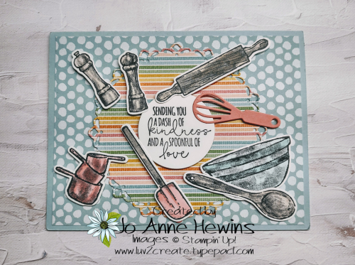 What's Cookin' and Pattern Party DSP by Jo Anne Hewins
