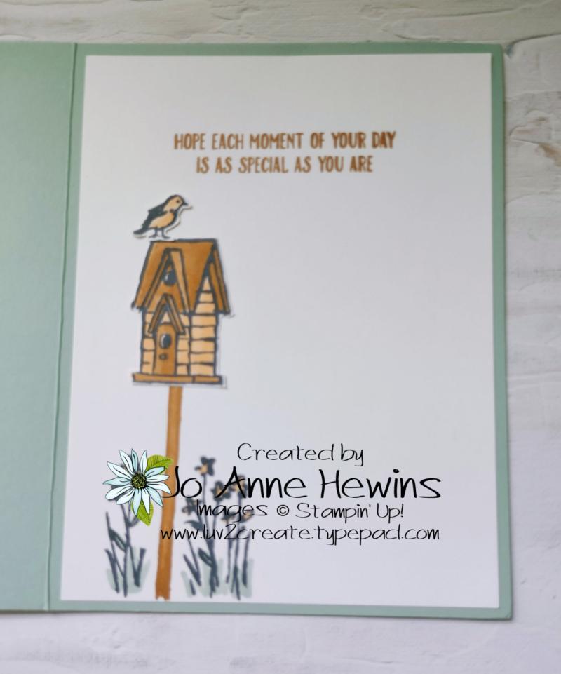 CCMC#669 Garden Wishes Inside by Jo Anne Hewins