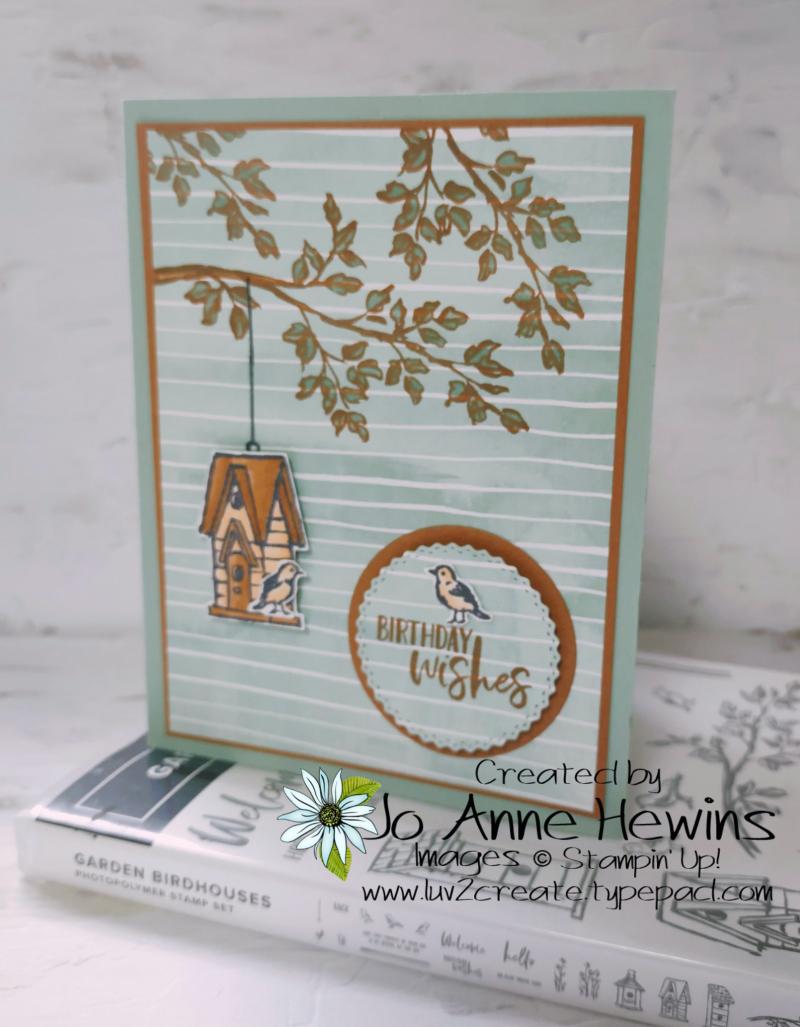 CCMC#669 Garden Wishes Card by Jo Anne Hewins