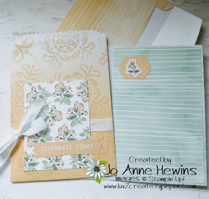 Ombre Bags with Card Inside by Jo Anne Hewins