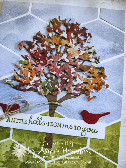 Beauty of Friendship Tailored Tag Punch by Jo Anne Hewins