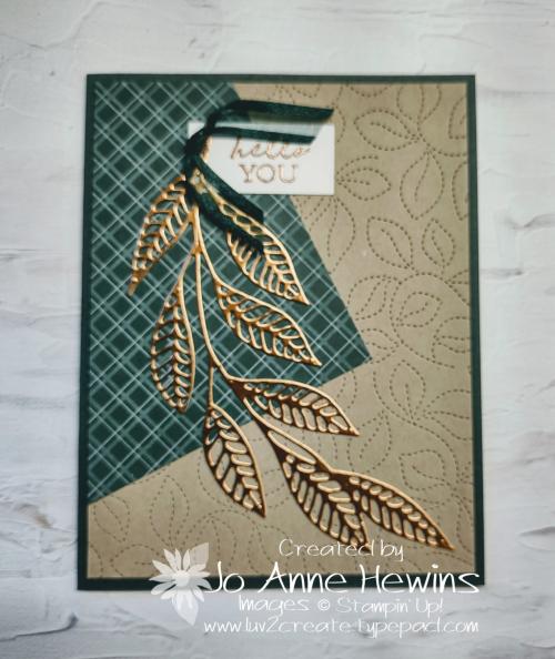 Easy 6 x 6 One Sheet Wonder Card 3 by Jo Anne Hewins