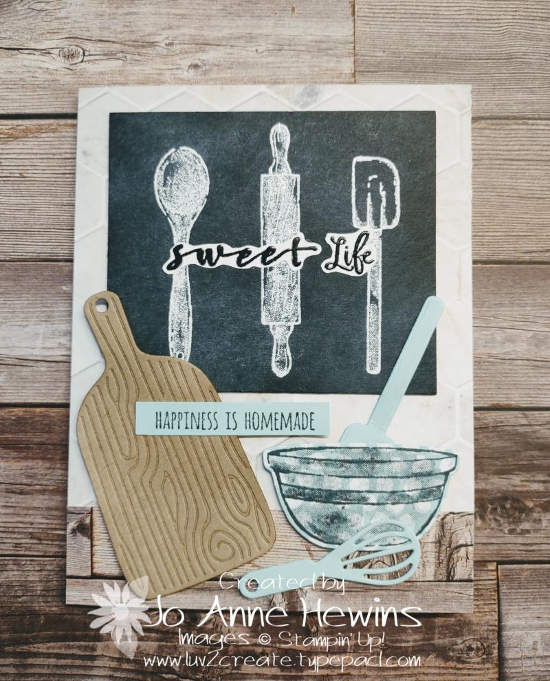 What's Cookin' Blackboard Card by Jo Anne Hewins