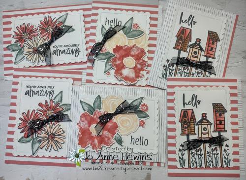 12 x 12 one sheet wonder 6 cards by Jo Anne Hewins
