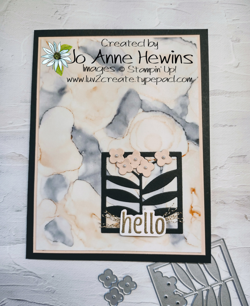 Color Fusers All Squared Away Card by Jo Anne Hewins