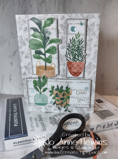 CCMC#672 Plentiful Plants Stamp Set by Jo Anne Hewins