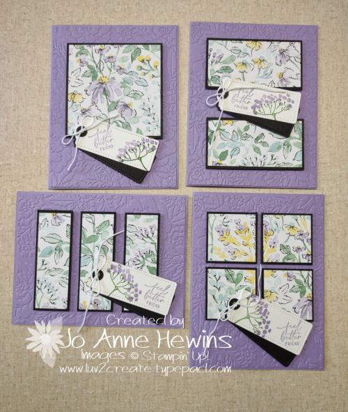 Facebook Live 7.14. 2021 6 x 6 one sheet wonder 4 cards by Jo Anne Hewins