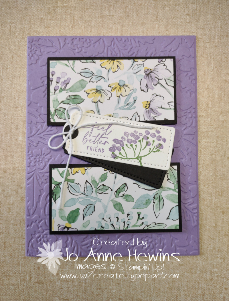 Facebook Live 7.14.2021 6 x 6 Card Two by Jo Anne Hewins