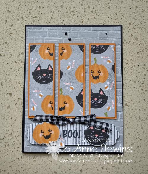 One Sheet Wonder cute Halloween 6 x 6 Card 3 by Jo Anne Hewins
