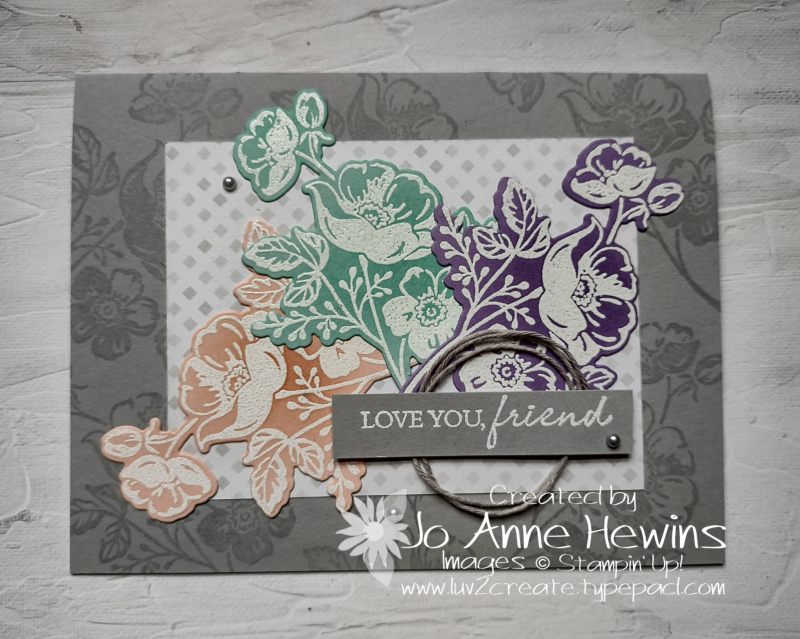 Shaded Summer Facebook Live 7.21.2021 White emboss Resist by Jo Anne Hewins