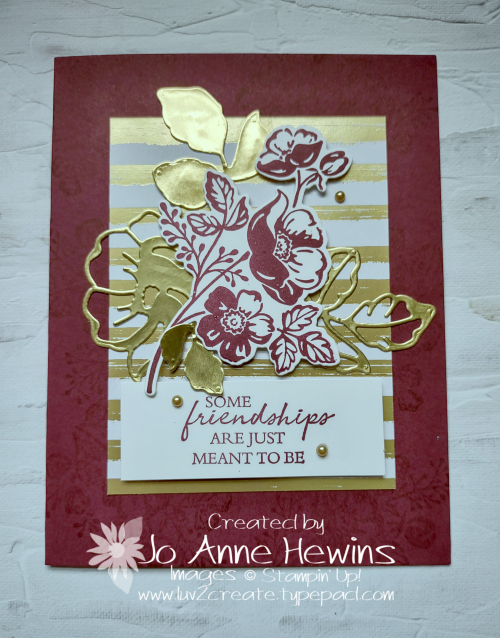 Shaded Summer Facebook Live 7.21.2021 Gold Foil by Jo Anne Hewins