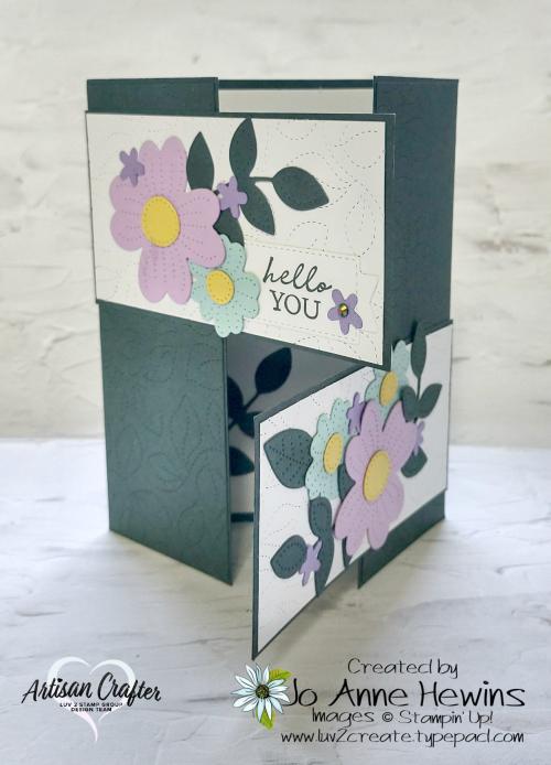 Pierced Blooms Interlocking Fold by Jo Anne Hewins