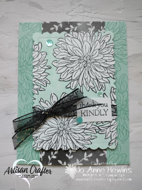 Delicate Dahlias for Facebook Live 8.25.2021 Pool Party Card by Jo Anne Hewins