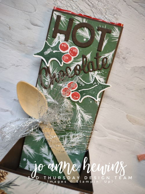 3D Thursday Chocolate Box Wooden Spoon by Jo Anne Hewins