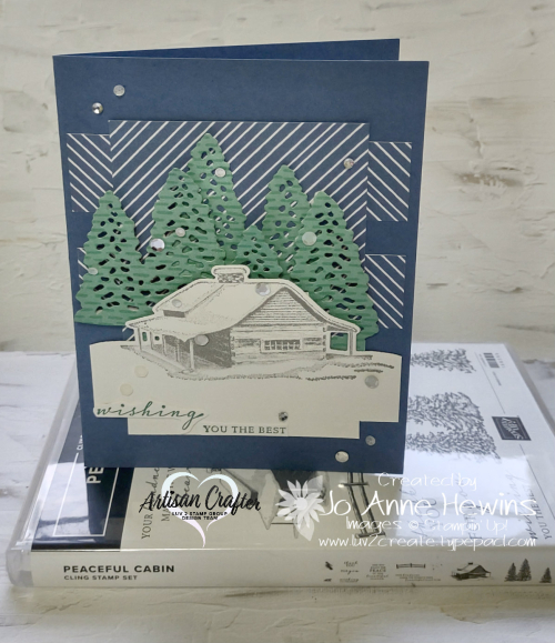 CCMC #681 Peaceful Cabin with Set by Jo Anne Hewins