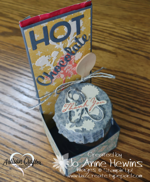 Nature's Harvest 3D Hot chocolate Gift Holder Project by Jo Anne Hewins